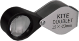 Doublet Loupe Hand Lens, 23mm, 15x magnification